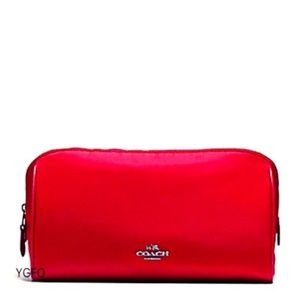 Coach Cosmetic Makeup Nylon Weekend Case Bag Case